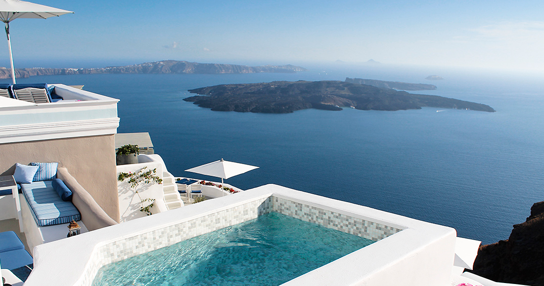 santorini private pool